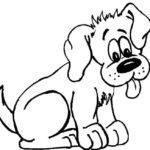 Dibujo de un perro para pintar