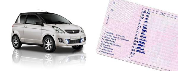 carnet de conducir y un coche