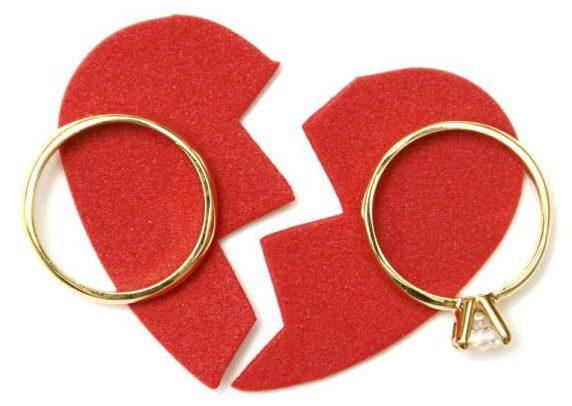 Corazón roto tras un divorcio