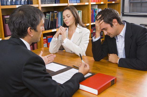 Divorcio de una pareja con abogado