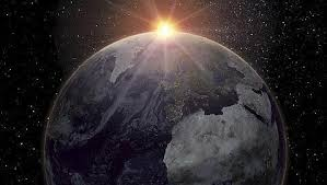 luz solar en la tierra