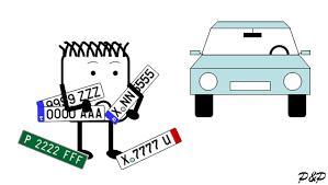 matrícula de un vehículo