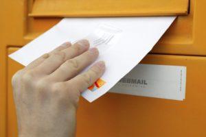 llegar una carta