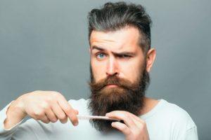 el vello de la barba