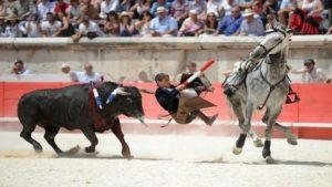 En el transcurso de la Edad Media se toreaba desde un caballo