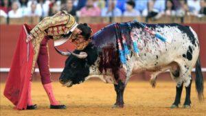 Debe conseguir que el toro le embista
